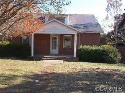 Colonial Heights VA Single Family Home For Sale: $84,500