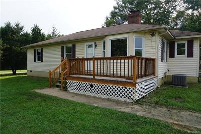Amelia County Single Family Home For Sale: 8018 Military Road