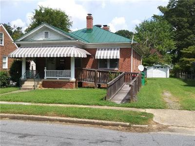 Colonial Heights VA Single Family Home For Sale: $107,000