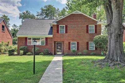 Richmond Single Family Home For Sale: 5313 Cutshaw Avenue