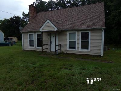 Dinwiddie County Single Family Home For Sale: 3904 Elsie Drive