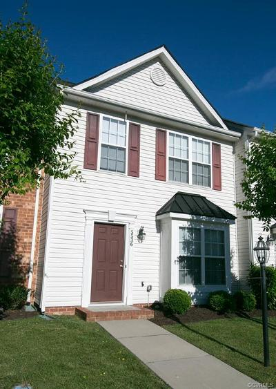 Chesterfield County Rental For Rent: 5536 Belle Pond Drive #5536