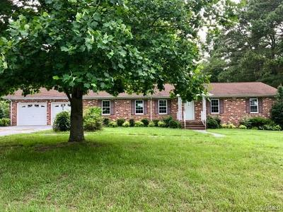 Dinwiddie County Single Family Home For Sale: 3608 Chesdin Boulevard