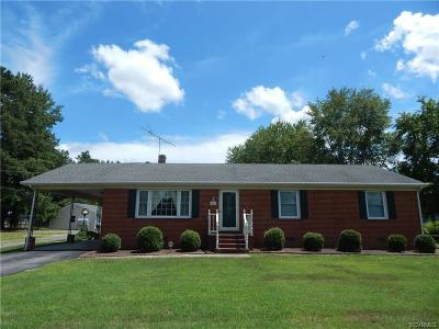 Dinwiddie County Single Family Home For Sale: 14501 Cox Road