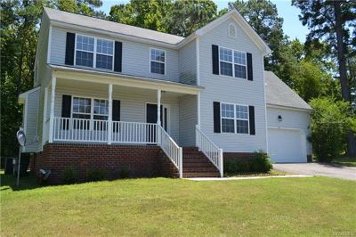 Dinwiddie Single Family Home For Sale: 22231 Lake Jordan Drive