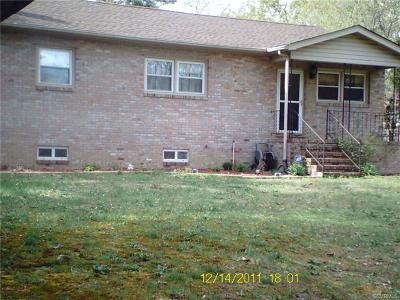 Dinwiddie County Single Family Home For Sale: 4018 East Ashley Lane