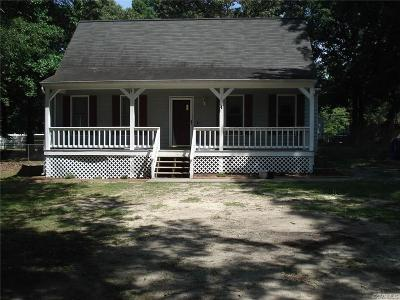 Dinwiddie Single Family Home For Sale: 27318 River Rd