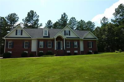 Amelia County Single Family Home For Sale: 7820 Stonewall Place