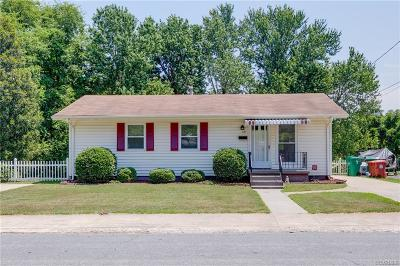 Colonial Heights VA Single Family Home For Sale: $135,000