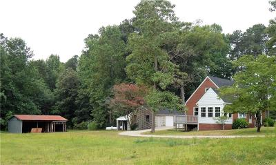 Dinwiddie County Single Family Home For Sale: 29311 Carson Road