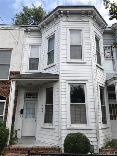 Richmond Single Family Home For Sale: 1508 West Cary Street