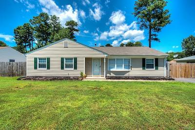 Colonial Heights VA Single Family Home For Sale: $175,000