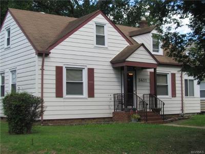 Richmond Single Family Home For Sale: 3403 Cliff Avenue