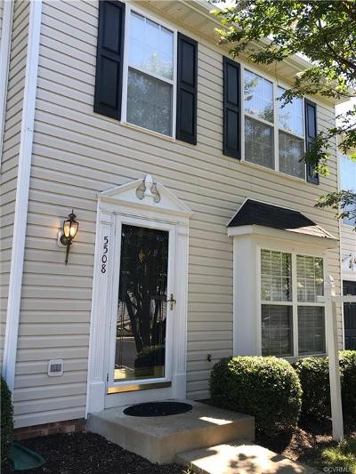 Henrico County Condo/Townhouse For Sale: 5508 Springwater Lane