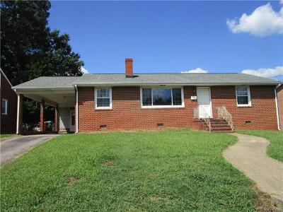 Colonial Heights VA Single Family Home For Sale: $132,000