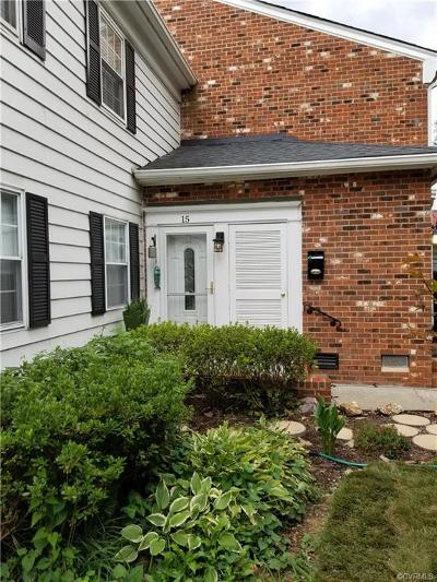Henrico Condo/Townhouse For Sale: 15 Waterfall Road #15