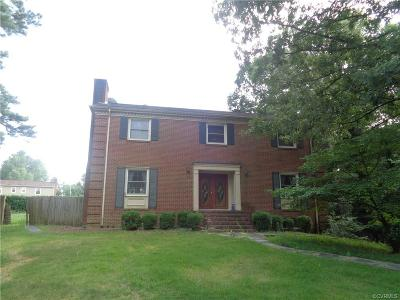 Petersburg Single Family Home For Sale: 1608 Camelot Road