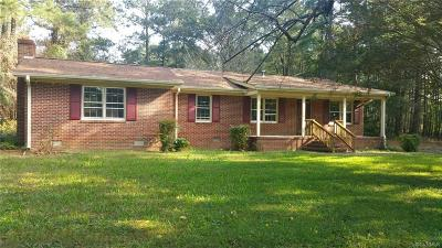 Brunswick County Single Family Home For Sale: 7889 Flat Rock Road