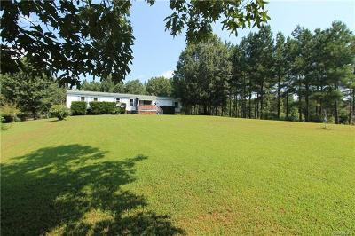 Amelia County Single Family Home For Sale: 22876 St James Road