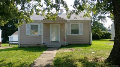 Colonial Heights VA Single Family Home For Sale: $79,900