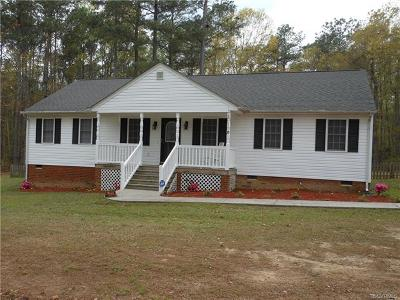 Dinwiddie County Single Family Home For Sale: 5714 Whisper Drive