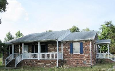 Nottoway County Single Family Home For Sale: 994 Woodmans Road