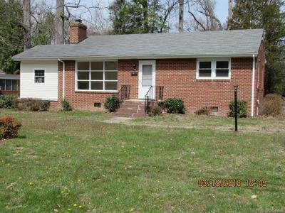 Colonial Heights VA Single Family Home For Sale: $157,500