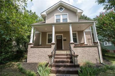Richmond Single Family Home For Sale: 3213 Barton Avenue