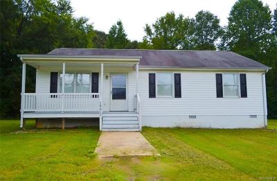 Dinwiddie Single Family Home For Sale: 18415 Bishop Street