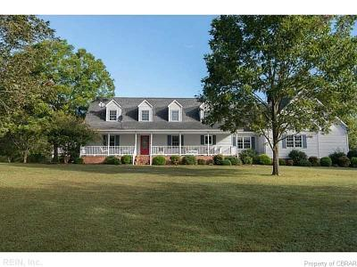 Isle Of Wight County Single Family Home For Sale: 10285 Stallings Creek Drive