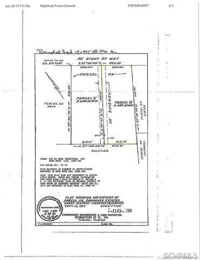 Hanover County Residential Lots & Land For Sale: 00b Arrowhead Road