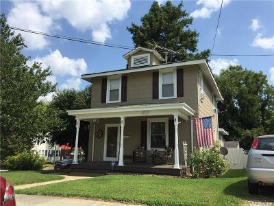 Colonial Heights VA Single Family Home For Sale: $156,000
