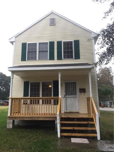 Petersburg Single Family Home For Sale: 309 Elm Street
