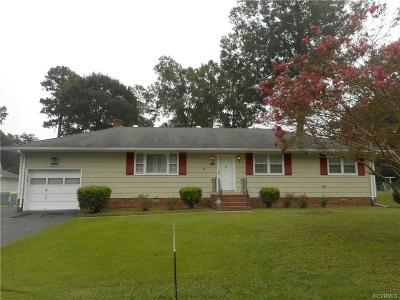 Hopewell VA Single Family Home For Sale: $185,000