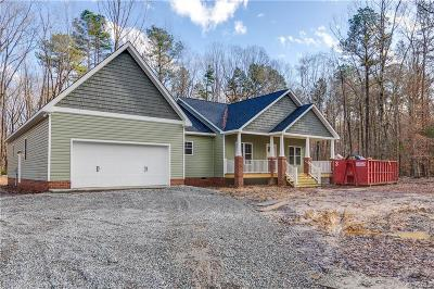 Powhatan Single Family Home For Sale: 6060 Cartersville Road