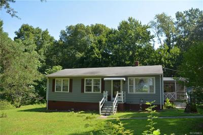 Amelia County Single Family Home For Sale: 9050 James Town Rd