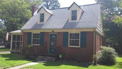 Petersburg Single Family Home For Sale: 806 Sunset Avenue