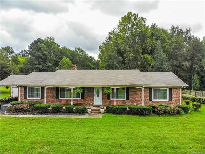 Dinwiddie Single Family Home For Sale: 15611 Boydton Plank Road