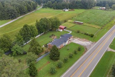 Amelia County Single Family Home For Sale: 7630 Military Road