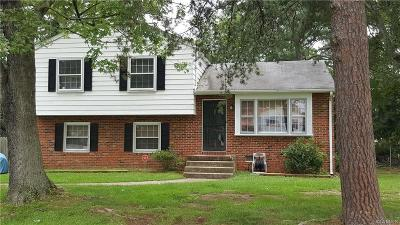 Chesterfield VA Single Family Home For Sale: $166,900