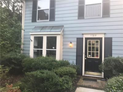 Henrico County Condo/Townhouse For Sale: 1739 Robins Nest