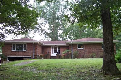 Dinwiddie Single Family Home For Sale: 25103 Ritchie Avenue