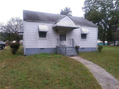 Petersburg VA Single Family Home For Sale: $57,950