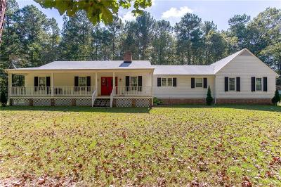 Dinwiddie County Single Family Home For Sale: 20307 Carson Road