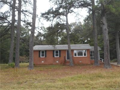 Single Family Home For Sale: 21469 Cabin Point Road