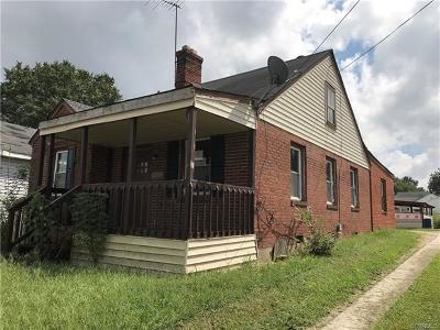 Petersburg Single Family Home For Sale: 1648 West Washington Street