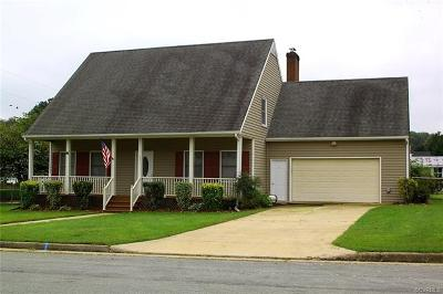 Dinwiddie Single Family Home For Sale: 6811 Birchett Drive