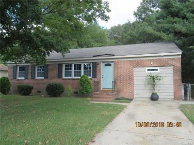 Petersburg Single Family Home For Sale: 2515 Century Drive