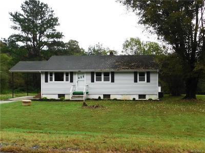 Farmville Single Family Home For Sale: 1560 Cumberland Road