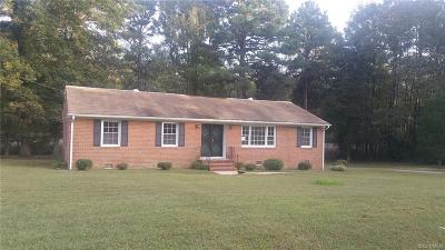 Dinwiddie County Single Family Home For Sale: 4115 Ashley Lane